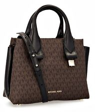 Michael Kors Bag Rollins Sm Satchel Braun Black New