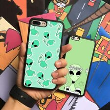 Cartoon Alien Pattern Cute Silicone Case Cover For iPhone Samsung Galaxy