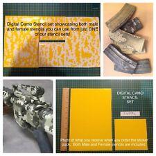 Digital Camo Stencil Pack, for Duracoat, Cerakote, Krylon, Gunkote!