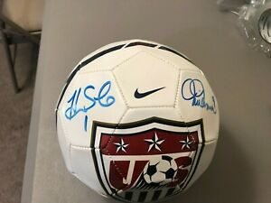 USA Soccer Ball autographed by Mia Hamm, Alex Morgan, Hope Sole & Abby Wambach