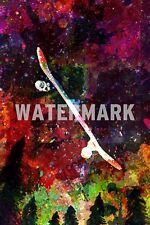 """Impresión de arte de tablas de patinar """"Colourburst"""" Foto Poster cotización De Regalo"""