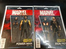 Power Man & Iron Fist #1s action figure signed by Mike Colter Finn Jones w/COAs