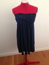 Planet Gold Womens Navy Blue Bandeau Flare Clubwear Summer Beach Dress Size M