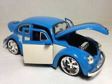 "1959 Volkswagen Beetle Collectible 7.5"" Metals Diecast 1:24, By Jada Toys Blue"