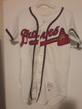 ATLANTA BRAVES 1990 LONNIE SMITH GAME USED HOME JERSEY