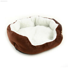 53CA Pet Dog Puppy Cat Kitten Soft Fleece Bed Kennel Cozy Nest Washable Coffee