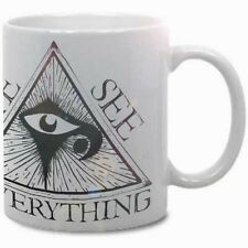 EYE SEE EVERYTHING COFFEE MUG! masonic horror occult oddities pagan rare wicca