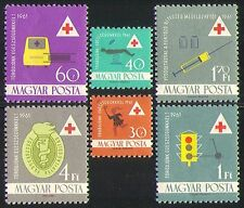 Hungary 1961 Health/Medical/Red Cross/Welfare/Ambulance/Transport 6v set n31464