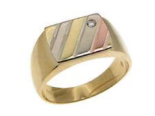 ANELLO ORO 18 kt anelli fidanzamento uomo in pietre 274 MASCHILE zircone ITALY