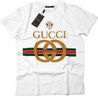 Gucci Nwt Short Sleeve %100 Cotton Men's Graphic Shirt Size : M L XL