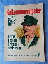 Prospekt Kalkammonsalpeter Dünger Getreide 1953 Kalk Wolfen Bitterfeld LPG