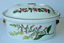 New listing Spode Covered Casserole Stafford Flowers 2.5 Quart Oval Oven to Tableware Clean