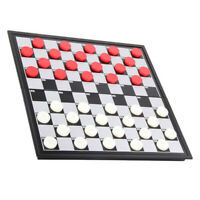 Portable Draughts Checkers Set With Folding Magnetic Board Travel Game Set