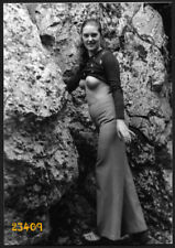 semi nude girl smiling in flares, Vintage fine art Photograph, 1970'