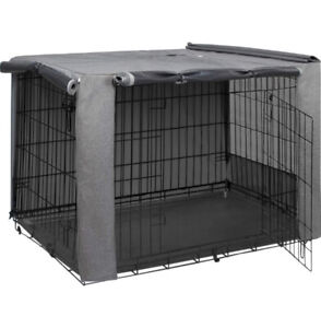 Double Door Dog Crate Kennel Cover Fits 24x18 HiCaptain New