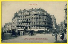 cpa 75 - PARIS Carrefour CHATEAUDUN pris de la Rue du FAUBOURG MONTMARTRE Animée