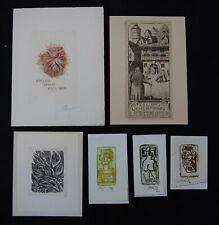 39)Nr.186-EXLIBRIS,verschiedene Künstler, Tiefdrucke C2,C3, Konvolut 6 Blätter