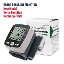 RECHARGEABLE WRIST BLOOD PRESSURE MONITOR AUTOMATIC PULSE RATE HEART 2018 New UK