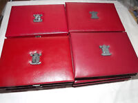Royal Mint Proof Year Coin Collection Sets in Red Deluxe Leather Covers