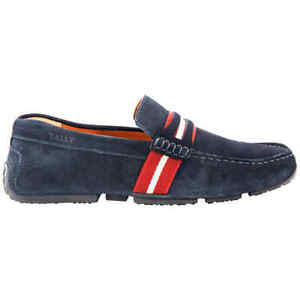 Bally Men's Pietro Driver Loafers In Navy