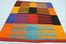 "Small Turkish Afion Kilim, Doormat, Bathmat, Small Wool Rug Carpet Tapis 37""x40"""