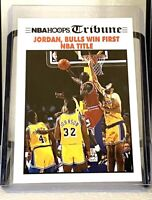 1991-92 NBA Hoops Tribune #542 Michael Jordan Bulls Win First NBA Title