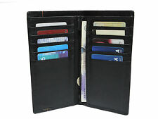 Men's Genuine Leather Bifold Wallet - Purse - Business Credit Holder Black New