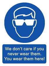 A5 Broma lugar de trabajo Gafas seguridad adhesivo - DERRAME peligro SALUD Y