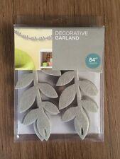 "84"" Lot 26 Studio Felt Leaves Leaf Vine Decorative Garland Nursery Baby Gray"