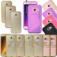 Bling Chrome Clear Gel Case Cover For Samsung Galaxy A3 A5 J3 J5 J7 S8 S7 S9 S9+