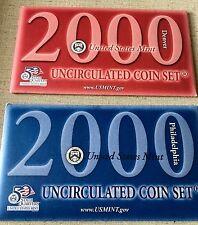 US 2000 UNC MINT SET INCLUDES 10  'P' COINS  AND 10 'D' COINS