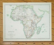 More details for africa continental 1898 victorian map keith johnston's royal atlas antique