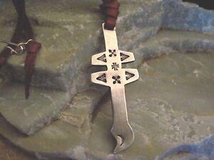 Cross of Loraine Necklace Lariat Long Supple Leather Sundance Catalog Artist