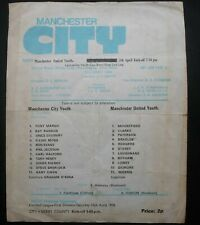 More details for manchester city v manchester united  lancashire youth cup  semi final  10-4-1976
