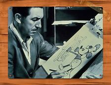 TIN SIGN Walt Disney And Mickey Black And White Disney Art Painting Movie Poster
