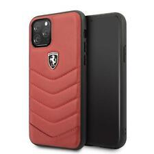 Ferrari Duro Funda de IPHONE 11 pro Piel Auténtica Rojo 360 Protección