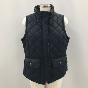 Joules Ladies Gilet Body Warmer Size 16 Navy Blue Padded Quilted Zip-Up 104400