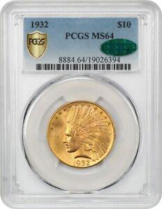 1932 $10 PCGS/CAC MS64 - Pretty! - Indian Eagle - Gold Coin - Pretty!