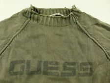 J109 vintage GUESS faded heavy cotton jumper sweater size XL very nice cond!