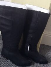 Ladies 'next' Black Leather BOOTS Size 5
