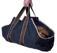 New Log Tote Fireplace Holder Wood Firewood Canvas Carrier Fire Heat Carry Bag