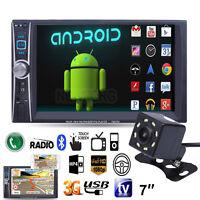 "7"" Double 2DIN Bluetooth Car Stereo Audio MP3 MP5 Player FM Radio USB AUX+Camera"