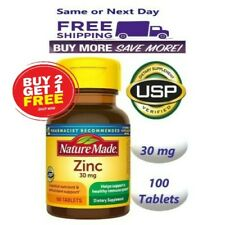 Buy 2 Get 1 FREE Nature Made Zinc Vitamin 30 mg Dietary Supplement 100 Tablets