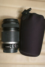 Canon EF-S 55-250mm f/4-5.6 IS Camera Zoom Lens & Lens Pouch/Bag