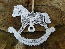 RockingHorse - Christmas Ornament - Free Standing Lace