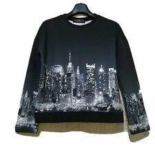 Beautique Skyline Print Embellished Sweater Neoprene