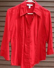 Women's Dark Red Shirt by Dressbarn; Size:  Small