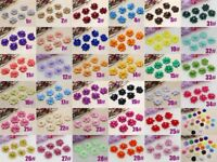 50pcs U pick satin ribbon flowers bows with Appliques Craft DIY Wedding 34 color