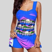 Women Tankini Swimsuit with Boy Shorts Swimwear Two Piece Swimsuit Plus Size