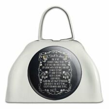 Toast To Beer Brew Funny Humor White Metal Cowbell Cow Bell Instrument